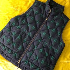 🆕Black Watch Plaid Quilted Puffer Vest